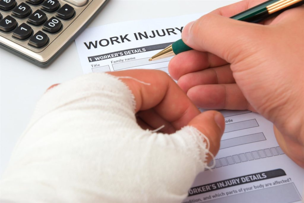 filling a work injury claim form