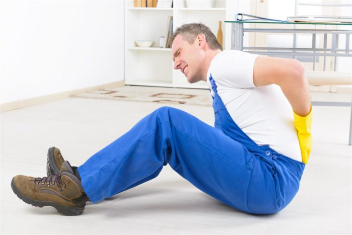 worker feeling pain in back